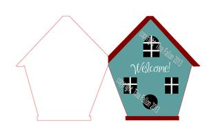 New Home Shaped Card Print N Cut Studio