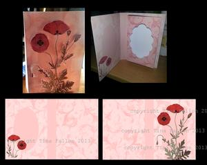 Poppy Combi Card Box with 3D Decoupage for Front