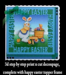 Easter Bunny 'print N Cut' No 2 ,