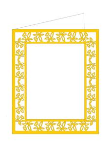 Daffodil Cut Out Card Template