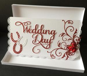 Wedding Card with Flourish - Card Box Included SVG