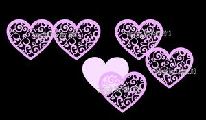 Filigree Wedding Hearts Toppers, Love SVG