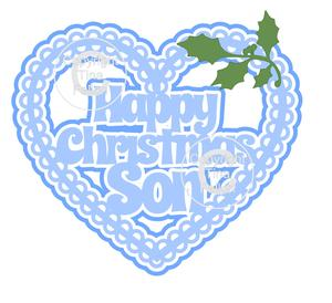 Christmas Heart Son Card Topper / Hanging Ornament