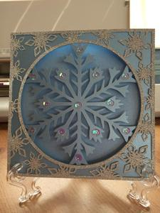 Frozen Snowflake Christmas Card and Border Frame - Studio