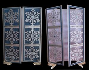Frozen Snowflake Christmas Panelled Gatefold Card