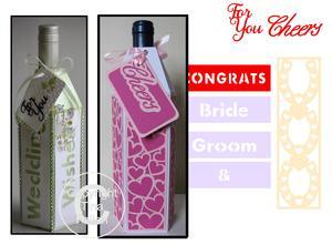 Wine Bottle Box Wraps *SVG Bumper Pack* Wedding /romance