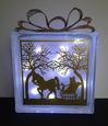 Horse Ride Glass Block Tile Design 6x6 Inches