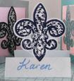 Fleur De Lis Filigree Wedding Place Name Cards