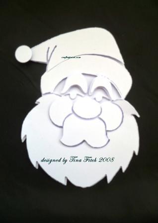 Layerd Christmas Santa Head - GSD