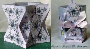 Lily Flower Carousel Box Card