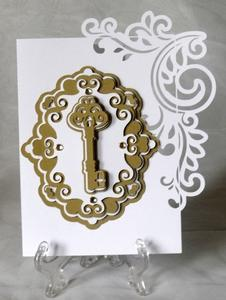 Flourish Layered Key Card - SVG