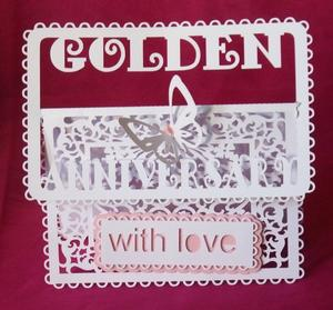 Golden Anniversary Buckle Card - SVG