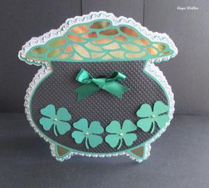 St Patricks Pot of Gold Card SCAL
