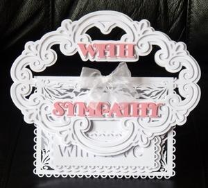 With Sympathy Buckle Card SCAL