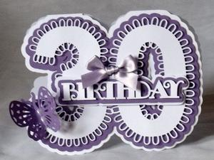 Stand Alone 30th Birthday Card Scancut