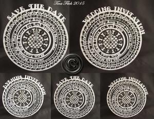 Clock Face Wedding Stationery Set SVG