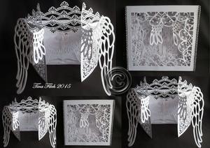 Angel Wings Sympathy Door Card & Box Cricut