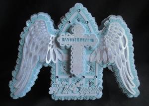 Winged Cross Sympathy Card SVG