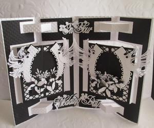 Fancy Fold Wedding Card & Box SVG