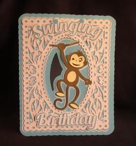 Swinging Birthday Card Scanncut