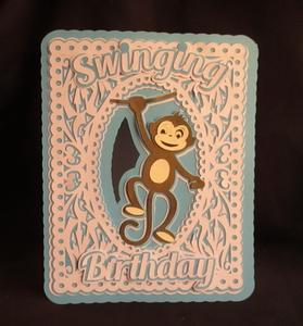Swinging Birthday Card SCAL
