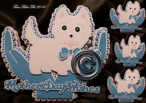 Westie Hand Cupped Card Scanncut