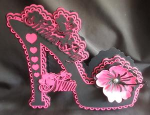 Mother's Day Floral Shoe Card SCAL