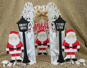 Christmas Santa & Lamp Door Card SCAL