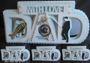 Dad Fishing Card SVG