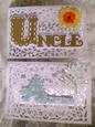 Scalloped Cards Auntie & Uncle - craftrobo/cameo