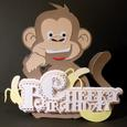 Scalloped Layered Cheeky Monkey Card - GSD