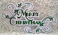 Swirly Layered Merry Christmas Topper - cameo
