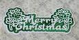 Merry Christmas Floral Layered Topper - craftrobo/cameo