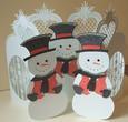 Christmas Snowman Door Card - craftrobo/cameo