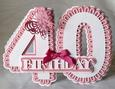 Stand Alone Scalloped Number 40 Birthday - GSD