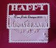 Anniversary Buckle Card - SVG