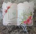 3D Rose Layered Open Book & Stand - SVG