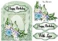 Green Layered Card Topper
