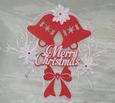 Bell & Poinsettia Christmas Topper - MTC
