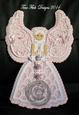 Scalloped Layered Angel Topper - craftrobo/cameo