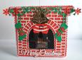 Santa Coming Down the Chimney Card MTC