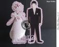 Bride & Groom Standing Card Craftrobo/cameo