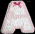 Filigree Letter Aimee Name Card SCAL