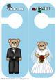 Bride and Groom Door Hanger