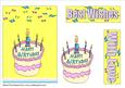 Cream Birthday Cake A5 Card