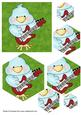 Cute Chick with Electric Guitar Pyramid