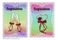 Two A5 Wedding Cards Heart and Glasses