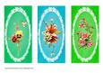 Lace Florals Three Dl Cards