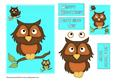 Owls A5 Card