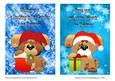 Christmas Pups Two A5 Cards